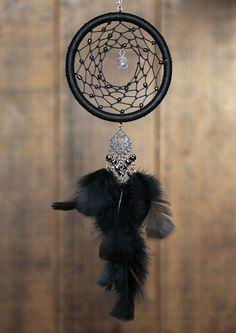 Black Crystal Dreamcatcher