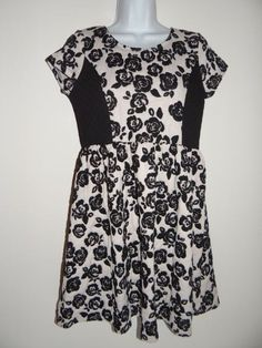 Girl's Disorderly Kids Black/Ivory Floral Dress Size: XL(14/16)  Msrp $58 NWT #DisorderlyKids #Everyday