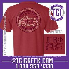 TGI Greek - Pi Beta Phi - Beaux and Arrows #tgigreek #Pibetaphidesigns #beauxandarrows  #dateparties #comfortcolors