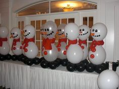 Christmas Party Balloons @Sharla Mullen Koller... how cute is this?????
