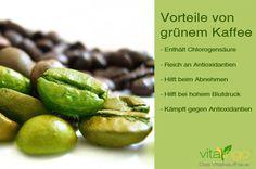 Etikett mit grünen Kaffeebohnen