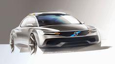 Volvo Concept Design Sketch by David Schneider