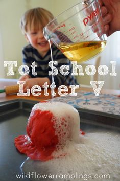Tot School Printables Letter V is for Volcano from Wildflower Ramblings #totschool