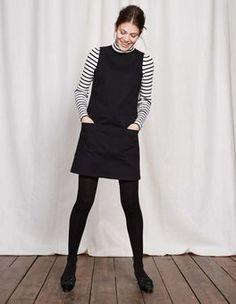 Trafalgar Modern Dress Boden black dress striped shirt tights