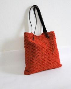 Crochet shoulder handbag by BagsbyMellysse on Etsy, $70.00
