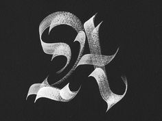"A BEAUTIFUL gothic blackletter ""A""."