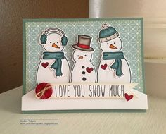 Lawn Fawn -  Making Frosty Friends stamps and Lawn Cuts dies, Hearts Lawn Cuts dies, Peace Joy Love 6x6 paper, Milo's ABCs _ Adorable card by Audrey! _ LF Favorites | Flickr - Photo Sharing!