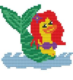 Cross Stitch PDF Pattern 'Mermaid Duck' Cross Stitch by FredSpools, $5.00