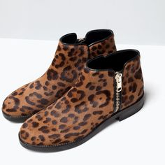 ZARA - SHOES & BAGS - PRINTED LEATHER BOOTIES