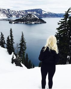 The island in the middle of Crater Lake is called Wizard Island. Not because it's shaped like a wizards hat but because actual wizards chill there. #staywild photo by @she.ventures  #findyourpark #meetmeinklamath #exploreoregon #traveloregon #discoverklamath by staywildmagazine