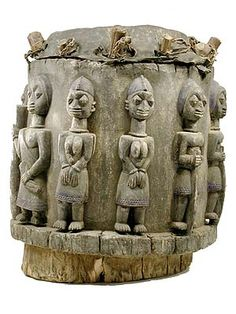 Yoruba Drum 1 http://www.hamillgallery.com/OFSPECIALINTEREST/YorubaDrum01osi.html #Africa #African #Yoruba