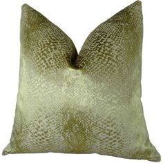 Plutus Hidden World Gold Handmade Throw Pillow, Yellow