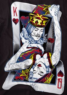 Art drawings, tattoo drawings, playing card tattoos, playing cards art, que Playing Card Tattoos, Playing Cards Art, Og Abel Art, Karten Tattoos, Queen Of Hearts Tattoo, King Queen Tattoo, Wallpaper Flower, Art Afro, Queen Images
