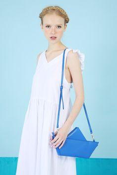 Great as a beach coverup. Ribbon Tie Back Midi Dress White Denim by @whitepepper #summerdress #white #nattygal