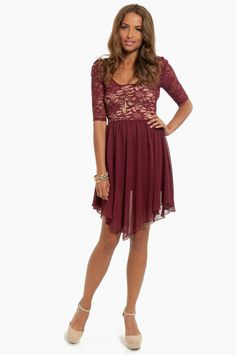 Backed Up Contrast Dress $64