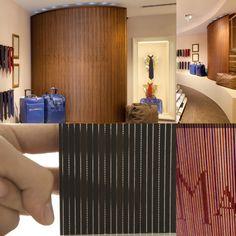 Pannelli in legno e fibre ottiche.