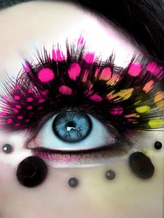 Colorful False Eyelashes Exaggeration Masquerade / Party /Stage Make Up Feather Eyelashes Thick Fake Eyelashes Lashes Feather Eyelashes, Fake Eyelashes, False Lashes, Eyelashes Makeup, Natural Eyelashes, Costume Makeup, Party Makeup, Make Up Designs, Eye Makeup Designs