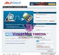 Violet Multimedia   » SmsGully WebSite Design