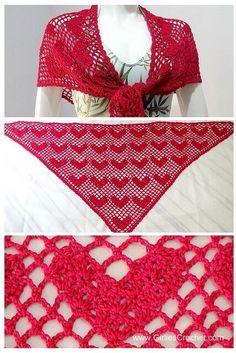 sweet heart shawl, free crochet pattern, beginners pattern, easy, spring, lacy…