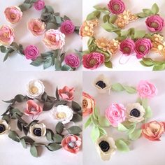 I'm amazed at the prettiness you guys can dream up  swooning over these custom felt flower garlands! Which one is your favorite? Ps. Don't forget I'll be having a one day sale tomorrow!