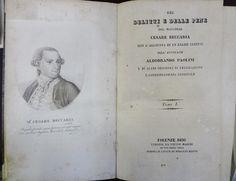 BECCARIA, Cesare, 1738-1794. Delitti e delle pene: tomo 1. Firenze: Pietro Marini, 1830