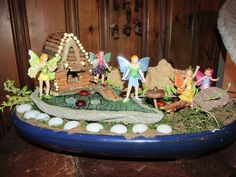 Fairy Garden ~ July 9, 2014 ~ Made from branches I cut in the yard.  Robin Rivera
