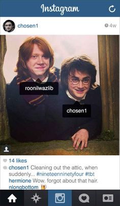 If Modern-Day Harry Potter Had Instagram - BuzzFeed...AWESOME!!
