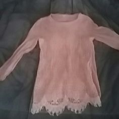 J. CREW long sleeved peach Long sleeve size small shirt. Peach. Worn only a few times became too small for me. I'm great condition very feminine and comfortable thin material wearable in all season's. J. Crew Tops Blouses