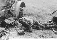 Charred remains of a British soldier of the Royal Sussex Regiment, Amiens, France, 21 May 1940