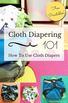 Cloth Diapering 101. Love these tips on how to use cloth diapers, plus the diaper laundry printable routine!