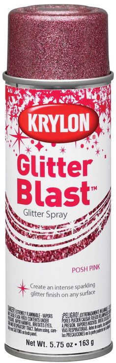 Posh Pink Glitter Blast Aerosol Paint 5.75 Ounces GB-3812 Lowes/Home Depot, here I come!!!