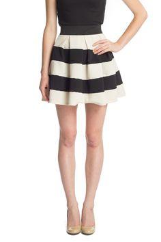 Striped Skirt A-Line Skirt...need navy