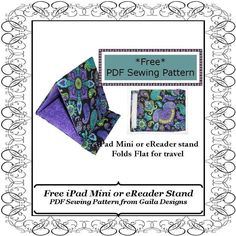 Free iPad Mini or Kindle eReader stand I'm gong to try to make this for my Dad - Check back for updates :)