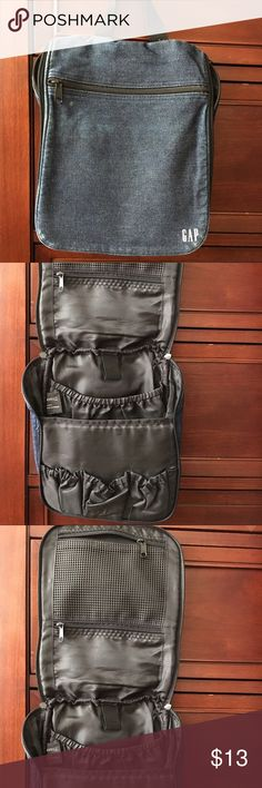 Gap travel bag Gap denim travel bag. Has plenty of pockets and room for all ur travel necessities. Used in good condition. Does have some wear in the outside county has lots of life left. GAP Bags Travel Bags