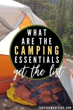 Heading camping and wondering what the essential camping gear items really are?  Check out this list and download a printable copy for yourself after joining the Take Them Outside community.  #campinggearlist #campingessentials Camping Games, Camping Equipment, Camping Gear, Campsite, Survival Prepping, Survival Gear, Survival Skills, Tarp Shelters, Shelter Tent