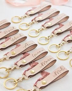 Your place to buy and sell all things handmade Leather Jewelry, Leather Craft, Diy Leather Keychain, Pochette Diy, Diy Leather Projects, Diy Schmuck, Leather Working, Bridesmaid Gifts, Diy Gifts