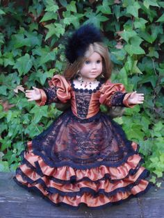 1850's Ball Gown for your American Girl doll by CarmelinaCreations