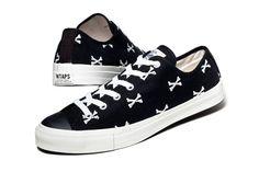 """WTAPS Low Top Canvas """"Crossbones"""" Sneakers"""