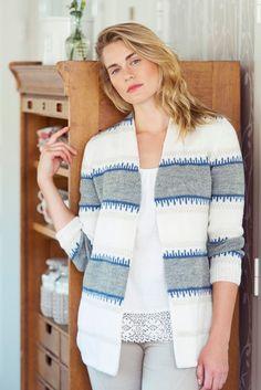 Naisen neuletakki Novita Nalle Knit Crochet, Knitting, Sweaters, Knits, Crocheting, Passion, Log Projects, Crochet, Tricot