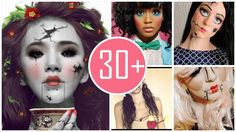 2014 Creepy Halloween doll makeup, tips of makeup awesome in party