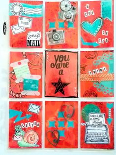 I'd been hearing about Pocket Letters for a couple of months now, but had no idea what they were until recently. Can we say New Obsession! It's like pocket scrapbooking, but without the photos, and you swap them with others. Below are a few that I recently created to swap. I'm so excited to receive some back from my pocket pals! #pocketletters #pocketletterpals