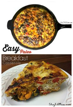 Paleo Breakfast Casserole I love all the easy, healthy recipes from ! I've got to try this one.I love all the easy, healthy recipes from ! I've got to try this one. Paleo Breakfast Casserole, Breakfast Recipes, Breakfast Quiche, Breakfast Skillet, Breakfast Bars, Breakfast Ideas, Easy Healthy Recipes, Paleo Recipes, Clean Recipes