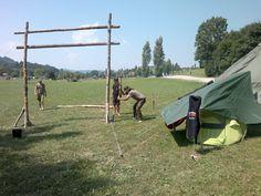 Das Lagertor wird in Teamarbeit erstellt SYSTEMA Austria Sommercamp 2015 Wardrobe Rack, Austria, Horses, Animals, Decor, Teamwork, Summer, Animales, Decoration