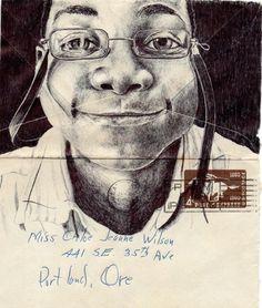 Retratos hechos 'a boli' sobre cartas antiguas . Fotos en lainformacion.com