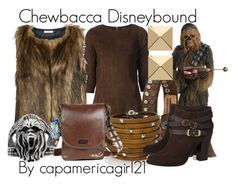 Chewbacca Disneybound by capamericagirl21 on Polyvore featuring Jitrois, ONLY, Jimmy Choo, Sif Jakobs Jewellery, Palm Beach Jewelry and COWBOYSBELT