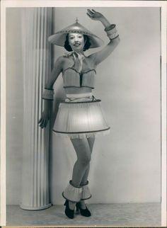 Vintage lampshade dress