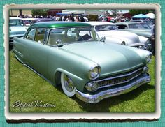 Very nice but subtle Kustom techniques have been done to this Ford. The only thing I would do different would be removal of the spotlights. Vintage Cars, Antique Cars, 1954 Ford, 50s Cars, Ford Fairlane, Spotlights, Kustom, Sled, Shoe Box