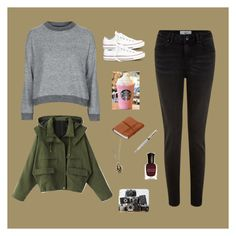 """""""Untitled #75"""" by ms-believer ❤ liked on Polyvore featuring Topshop, Converse, Fountain, Deborah Lippmann and Ella Doran"""