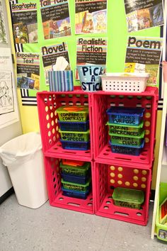 Dollar Tree organizers--great way to store task cards