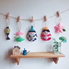 Japanese Kids, Craft Activities For Kids, Girl Day, Cool Baby Stuff, Diy And Crafts, Handmade Items, Christmas Ornaments, Sewing, Holiday Decor